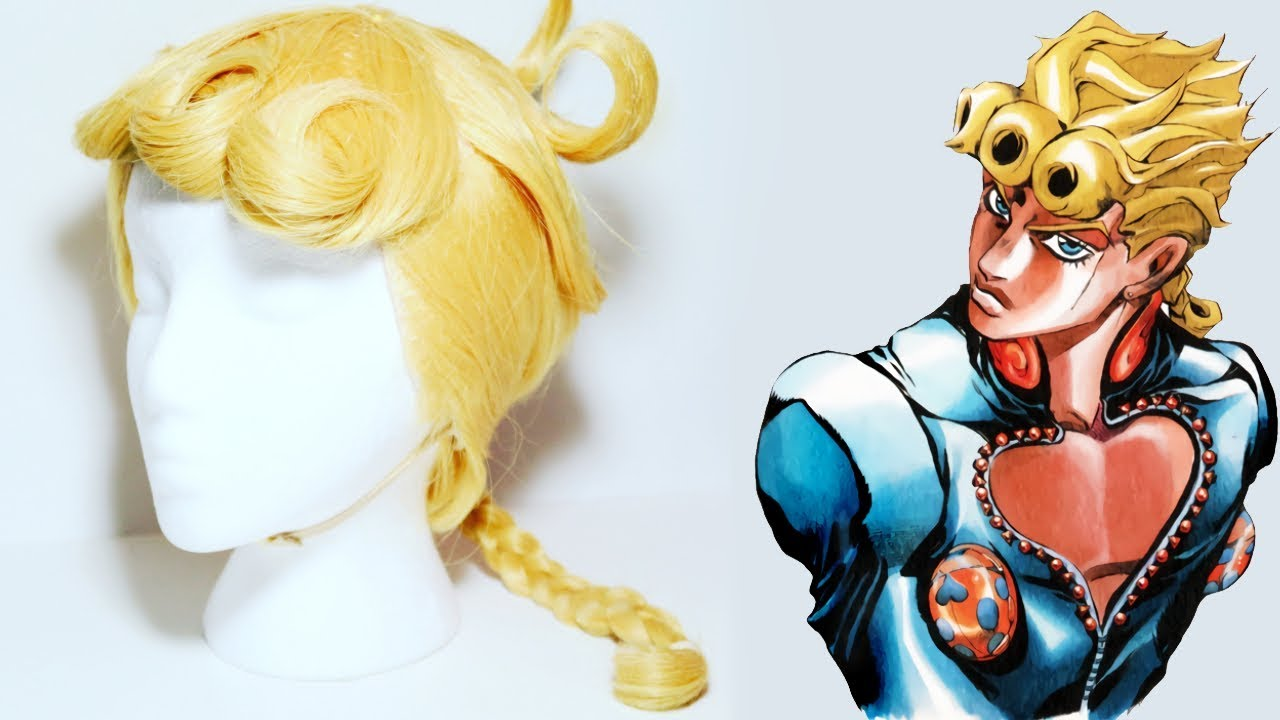 Jojos Bizarre Adventure Giorno Wig Tutorial Youtube