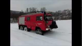 Geländefahrt mit Puch Pinzgauer Feuerwehrauto 3,5 Tonnen