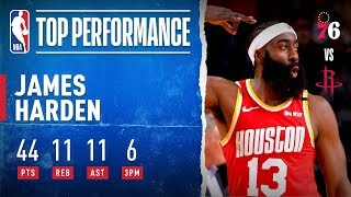 Harden GOES OFF For 44 PTS, 11 REB & 11 AST
