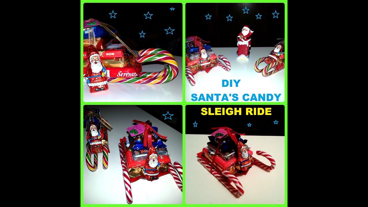 Diy how to make santas candy sleigh ride youtube solutioingenieria Choice Image