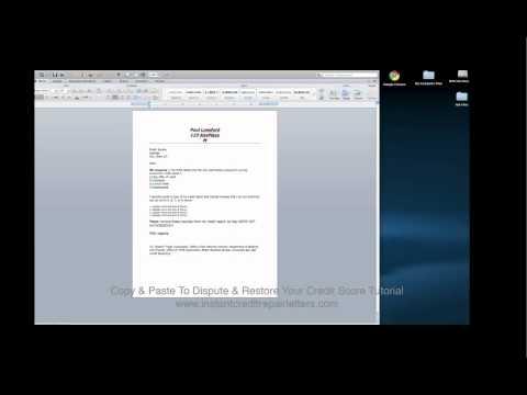 Copy & Paste Credit Dispute Letter Tutorial.mp4