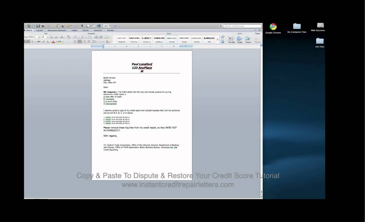 Copy  Paste Credit Dispute Letter TutorialMp  Youtube