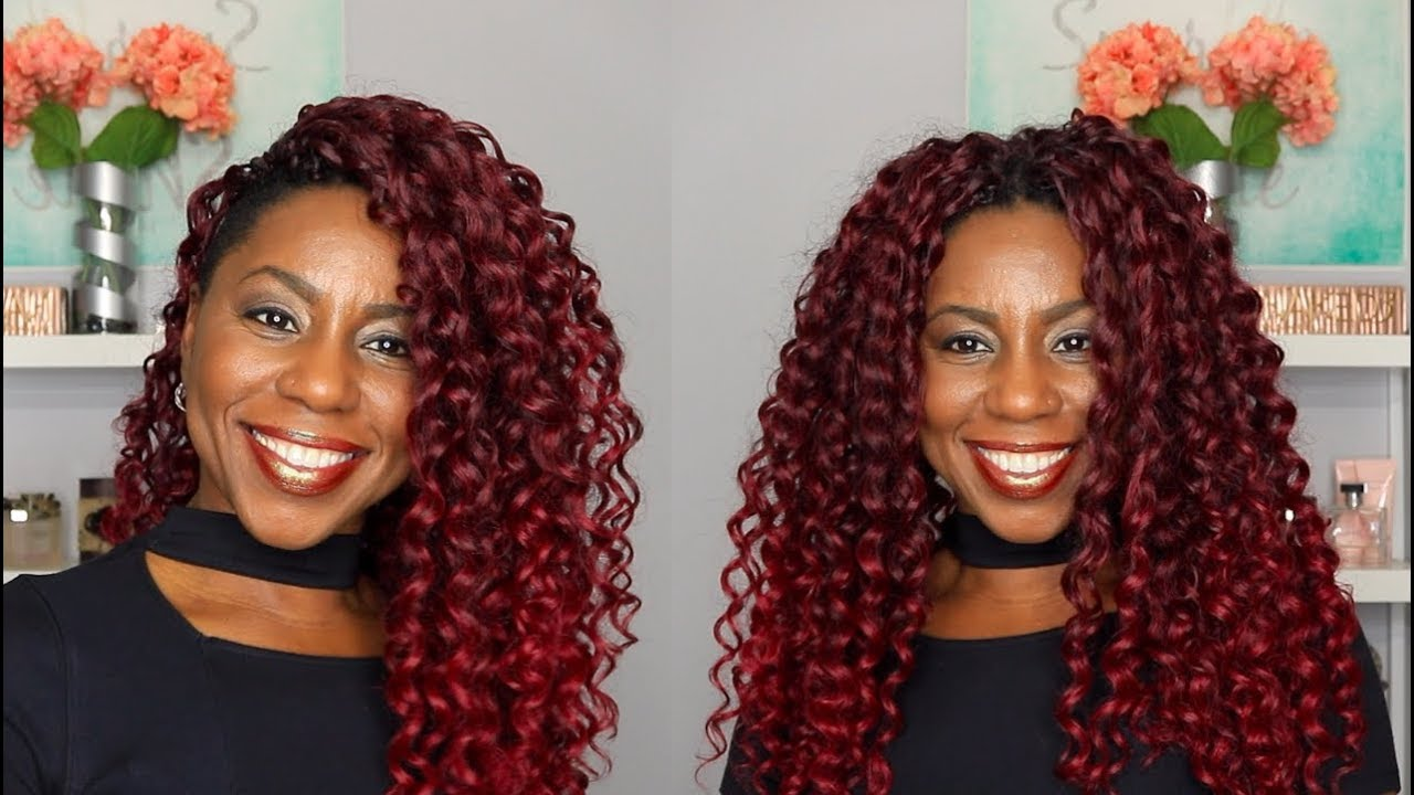 Mane Concept Beach Curl Review Wearing Colored Crochet At Work Mashelle Dean