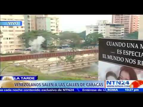 Fuertes imágenes en Vzla por lanzamiento de gases lacrimógenos de la Guardia Nacional Bolivariana