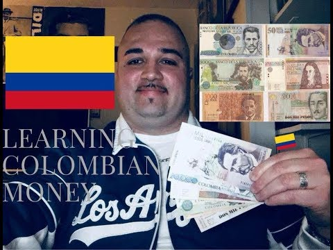 LEARNING COLOMBIAN MONEY!!!