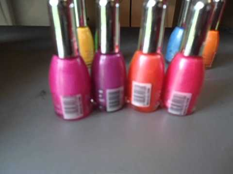La Femme Set Of 9 Neon Nail Polishes review - YouTube