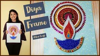 DIYA FRAME | Diwali gift Ideas | Glitter sheet craft ideas | Just Craft
