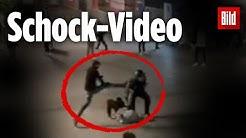 Brutaler Angriff auf Polizist in Stuttgart: Schock-Video zeigt Randale-Nacht