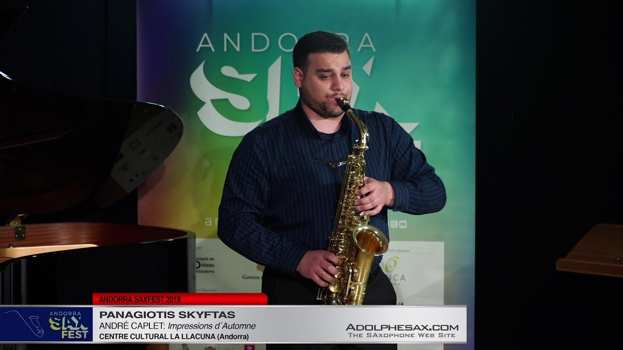 Andorra SaxFest 2019 1st Round   Panagiotis Skyftas   Impressions d´Automne by Andre Caplet