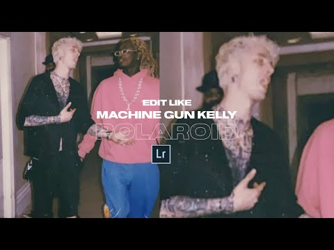 Create The MACHINE GUN KELLY Polaroid Effect + Lightroom Mobile Preset DNG File