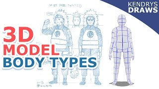 Clip studio paint- How to make different body types for 3d models