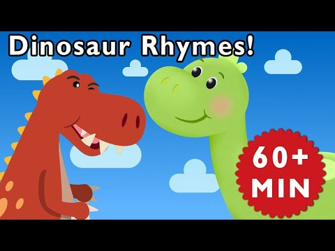 Dinosaur Rhymes | T-Rex Songs | Songs for Kids by Mother Goo