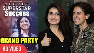 Dangal Girls Fatima Sana Shaikh And Sania Malhotra At Secret Superstar Success Grand Party