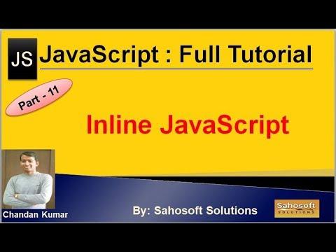 Inline JavaScript : Part - 11 : JavaScript Full Tutorial thumbnail