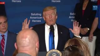 AMAZING: President Donald Trump and the First Lady Melania Trump in a Salute to American Heroes