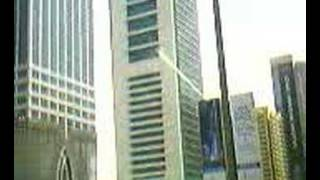 Dubai going towards Burj Al Arab in toyota camry taxi video1