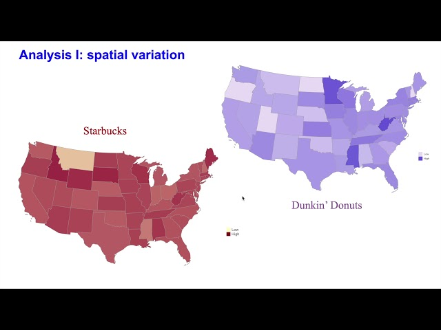 Tweets-based Regional Brand Analysis:Starbucks And Dunkin' Donuts