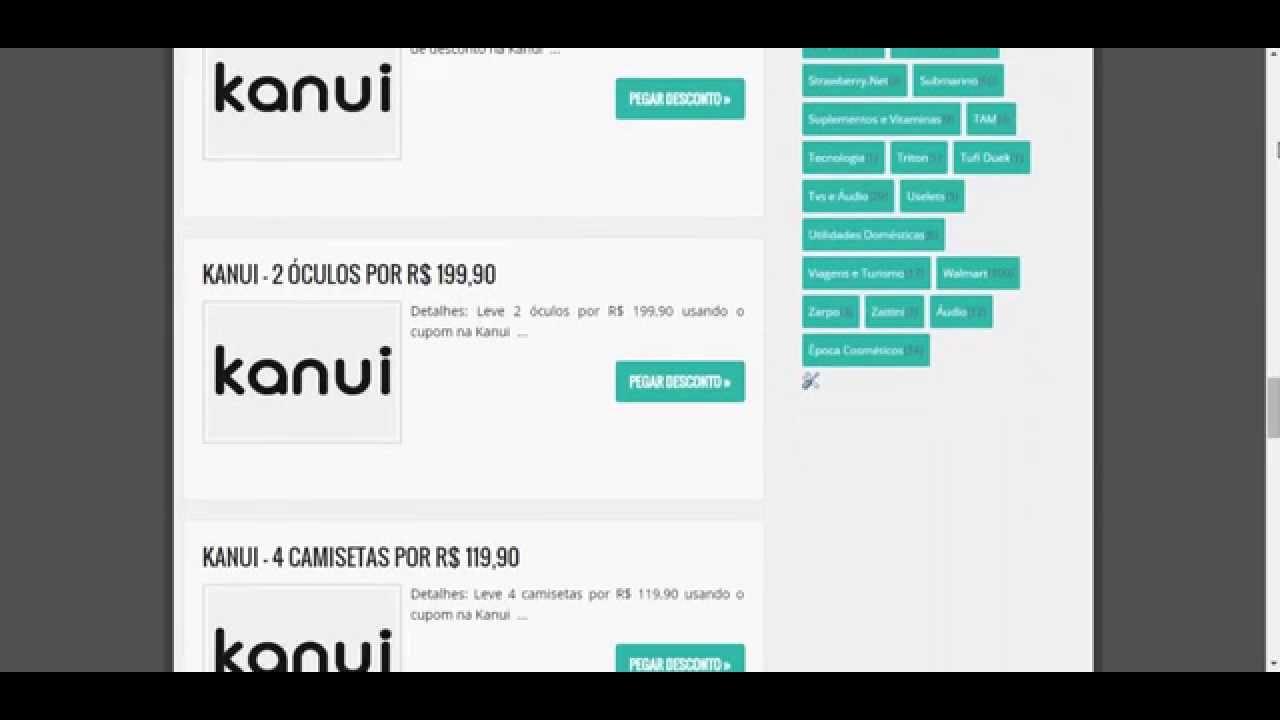 cupom de desconto kanui - YouTube 398b9d9c7d0f0