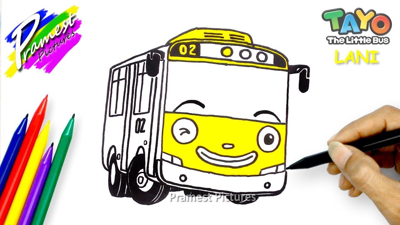 How To Draw Tayo The Little Bus Lani Coloring Pages