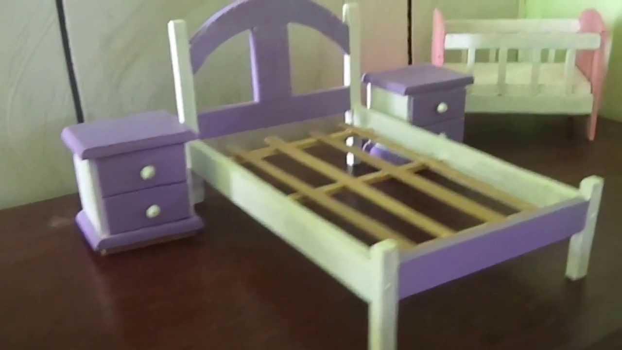 M veis em miniatura do izaque youtube - Como hacer una cama infantil ...