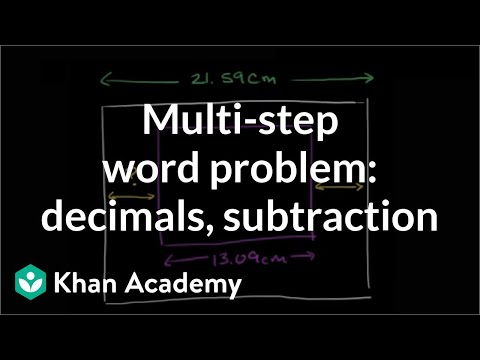 Multi-step Word Problem With Decimals And Subtraction | Pre-Algebra | Khan Academy