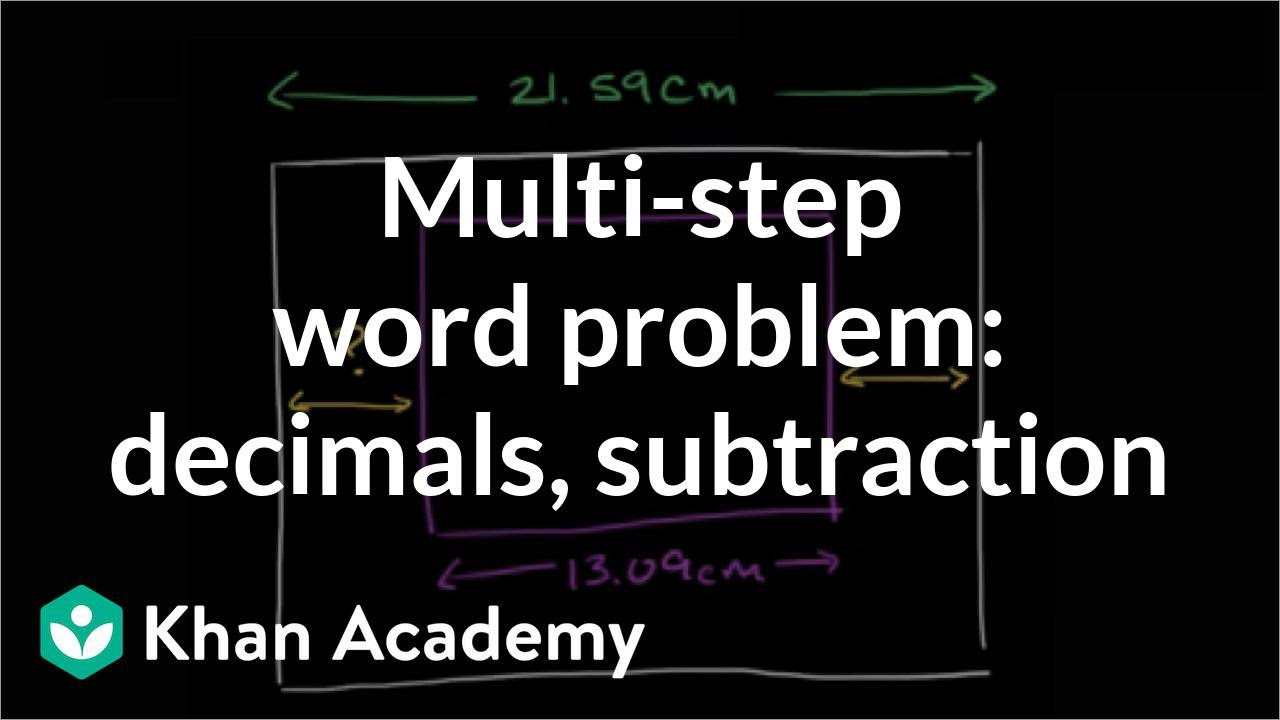 2 Step Addition And Subtraction Word Problems Decimals decimal – 2 Step Addition and Subtraction Word Problems Worksheets