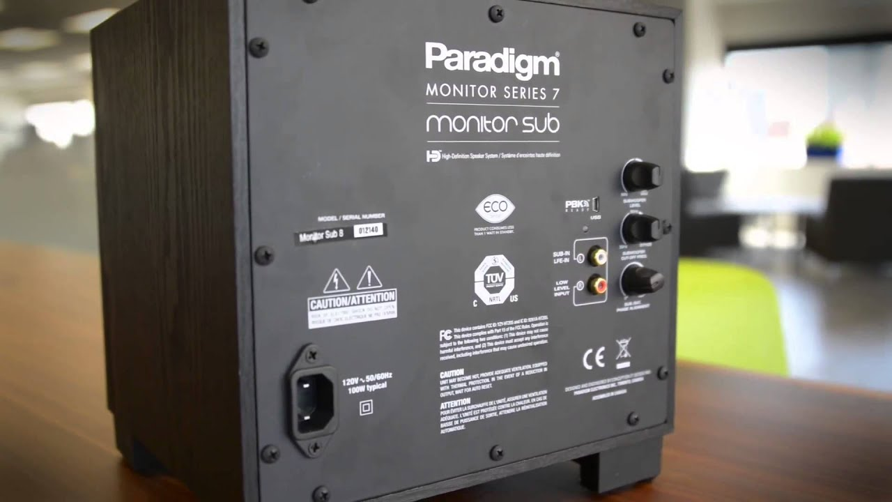 hands on with the paradigm monitor sub 8 subwoofer with perfect bass rh youtube com Paradigm Monitor 9 Paradigm Monitor 3