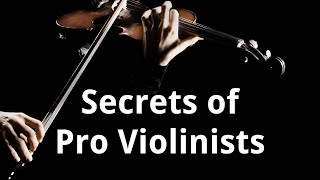 How to Sound like a PRO Violinist: the secret sauce!