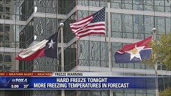 North Texas under freeze warning Monday night, temperatures to fall into 20s