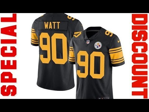 best loved 40e5a ae6f8 Special discount on NIKE Men's T J Watt Pittsburgh Steelers Color Rush  Football Jersey 2018
