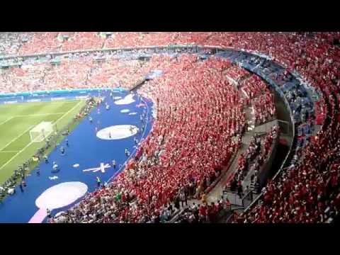 National Anthem of Austria performed by fans euro 2016