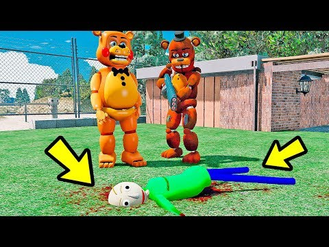 ANIMATRONICS Quem MATOU o Professor Baldis Basics? | GTA V Five Nights at Freddy's thumbnail