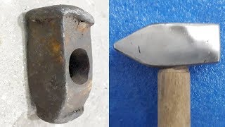 Rusty Restoration of an Old and Damaged Hammer Tool
