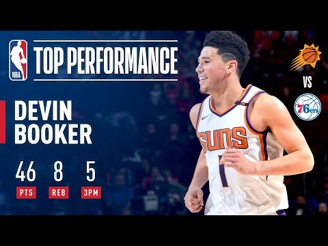 Devin Booker Puts Up a Season-High 46 Pts vs. Sixers | December 4, 2017