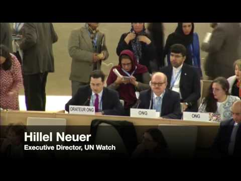 Hillel Neuer Responds to Dictatorships Covering their Crimes at U.N. Human Rights Council