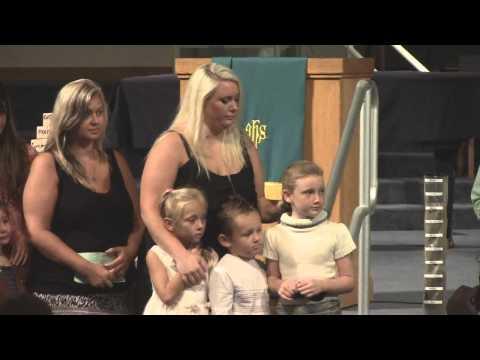 First United Methodist Church - Port Orange, FL: Baptism of Hayashi Children