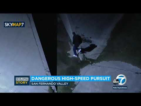 Driver Escapes After High-speed Police Pursuit Through San Fernando Valley; Search Continues | ABC7