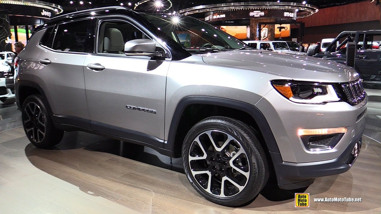 White Jeep Patriot >> 2018 Jeep Compass Limited - Exterior and Interior Walkaround - 2017 Detroit Auto Show - YouTube