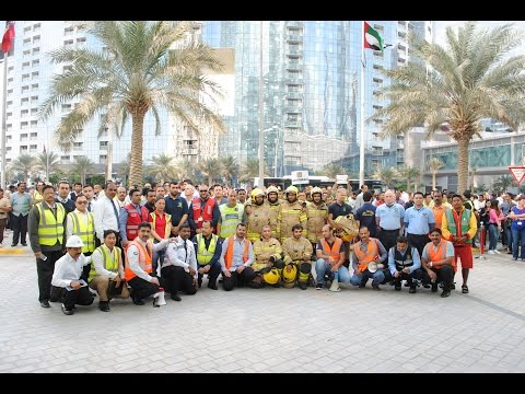 Sky Tower Fire Evacuation Drill in coordination with Abu Dhabi Civil Defence