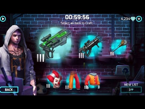 Gangstar Vegas - Crafting Items LV 3 (New Gun Plague Pistol, Quillgun, Clown Set, Duskwing)