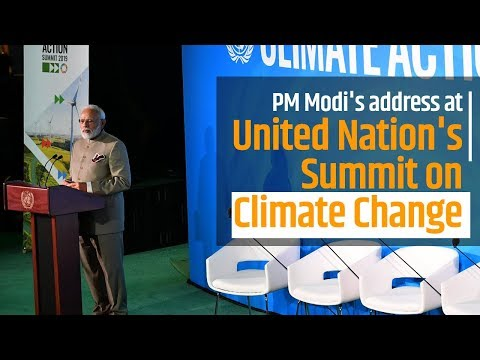 PM Modi's address at United Nation's Summit on Climate Change in New York, USA | PMO