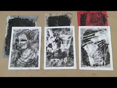 Monoprinting With 3 Types Of Recycled Plastic