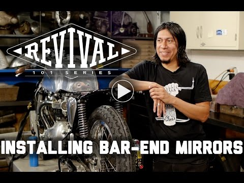 How To Install Bar End Mirrors // Revival 101