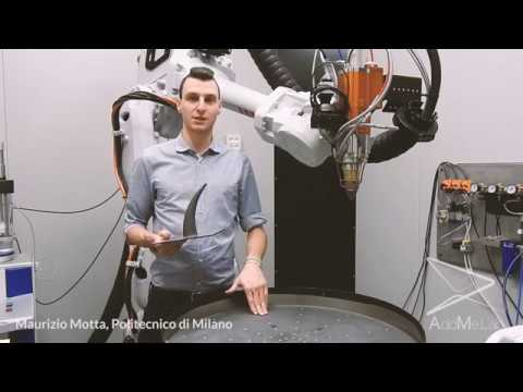 Robotic cell for direct metal deposition @AddMe.Lab