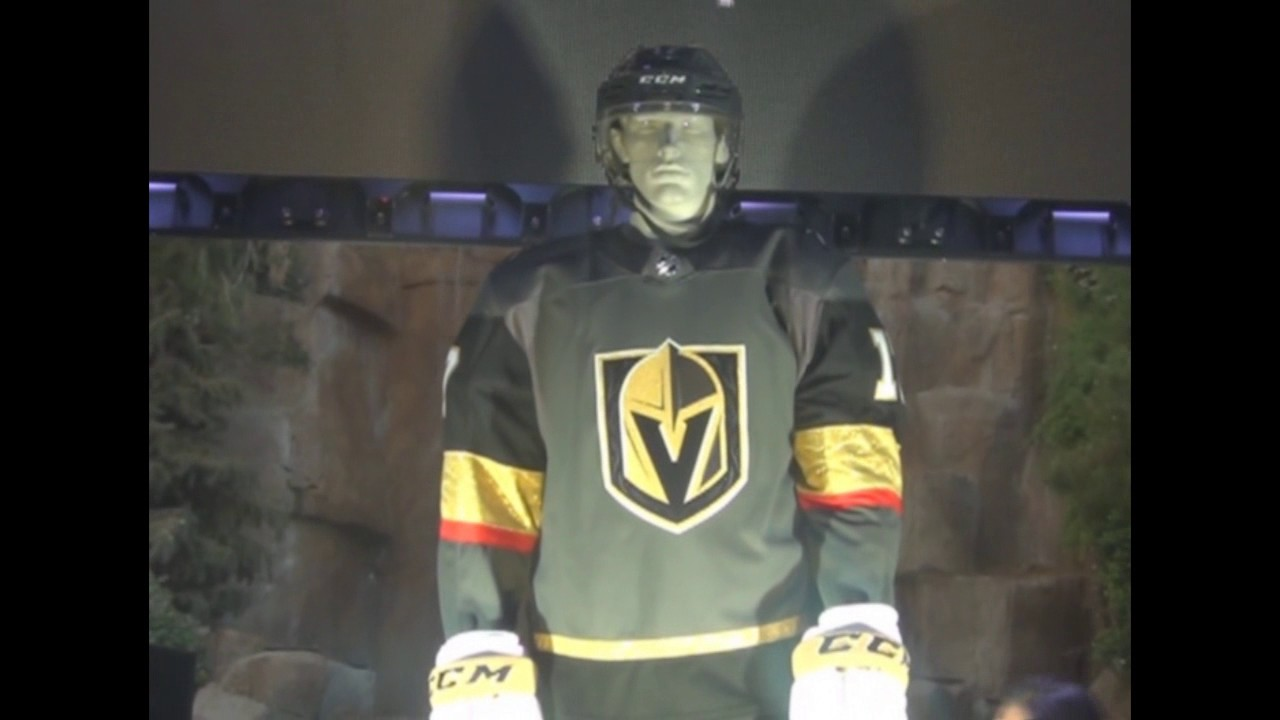 ceed830a7 2017 Vegas Golden Knights jersey & unveiling of NHL Jerseys Las Vegas