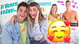 Reacting To Our First Date As an ENGAGED COUPLE 2 Years Later!! *Emotional*