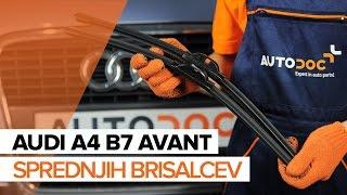 Kako in kdaj zamenjati zadaj in spredaj Metlice brisalcev AUDI A4 Avant (8ED, B7): video navodila