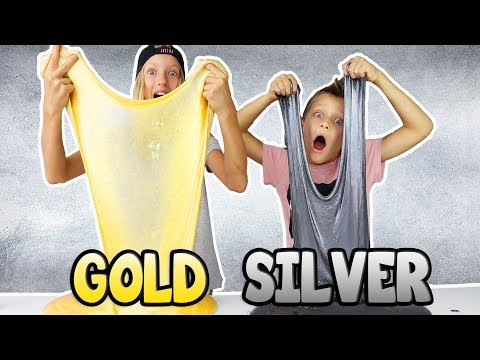 Thumbnail: METALLIC SLIME!!! GOLD vs SILVER
