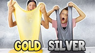 METALLIC SLIME!!! GOLD vs SILVER thumbnail