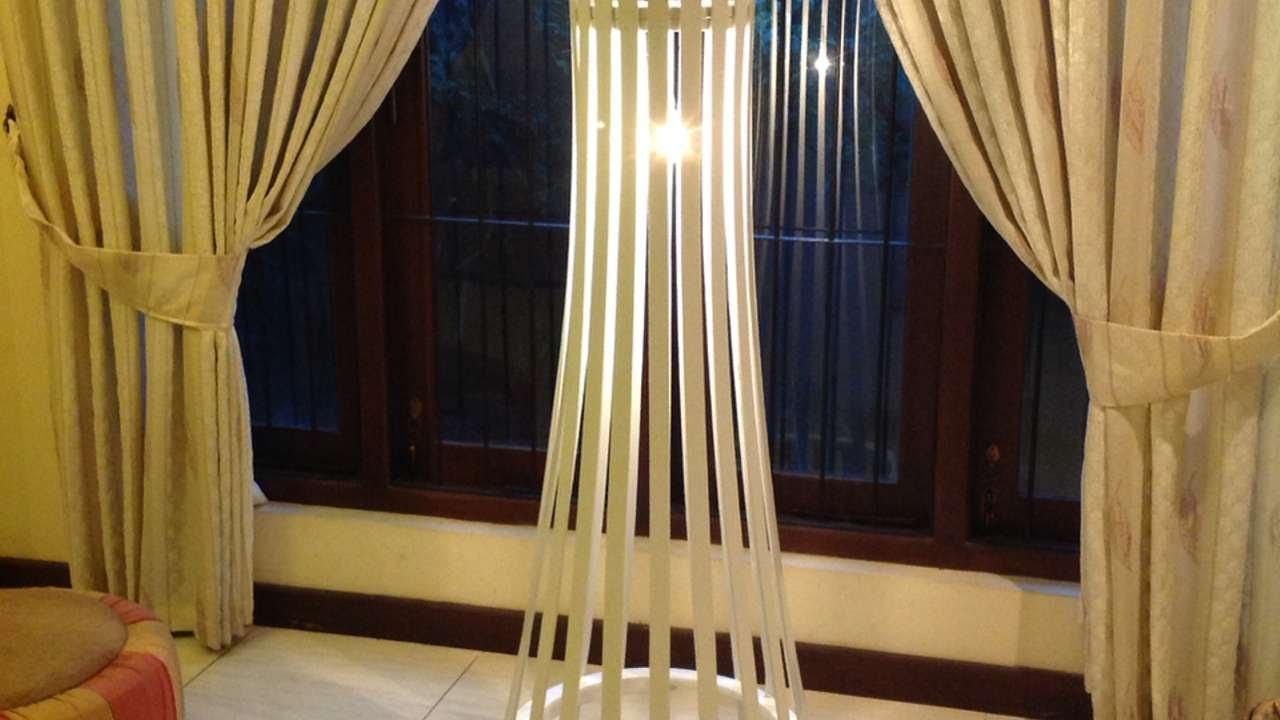 how to make a easy elegant slat wood floor lamp diy crafts tutorial youtube